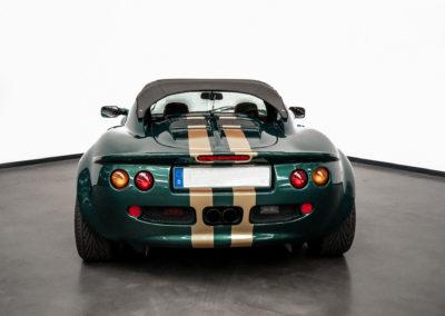 Lotus Elise S1 VVC MMC grün metallic mit goldenen Race Streifen
