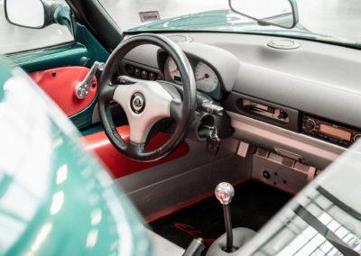 Lotus Elise S1 VVC MMC grün metallic Lenkrad und Amatur