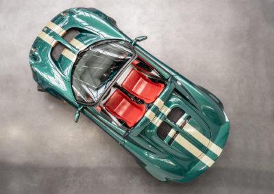 Lotus Elise S1 VVC MMC grün metallic von oben fotografiert mit verdeck geöffnet