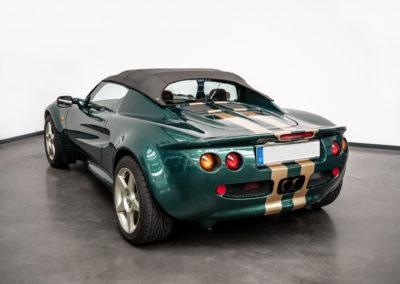 Lotus Elise S1 VVC MMC grün metallic Heckansicht