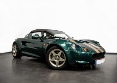 Lotus Elise S1 VVC MMC in grün metallic in Seitenansicht