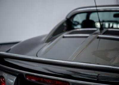 Lotus Elise 111S grau metallic Heckansicht Detail Spoiler