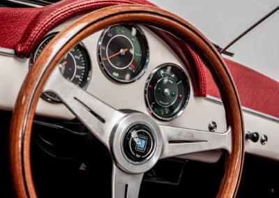 Volkswagen Beck Speedster Detail Tacho und Lenkrad