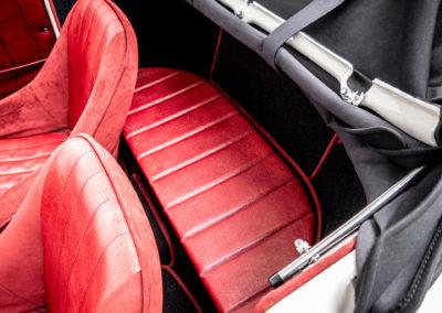 Volkswagen Beck Speedster rote Rückbank