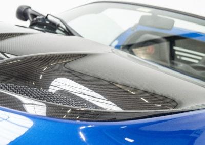 Lotus Exige Sport 350 blau Detail Windschutzscheibe