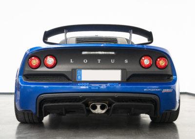 Lotus Exige Sport 350 blau Heckansicht